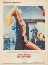 BLOW UP Movie POSTER 27x40 G David Hemmings Vanessa Redgrave Sarah Miles Jane