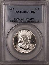 1955 Franklin Silver Half Dollar 50c Coin PCGS MS 64 FBL (BR-30 A)