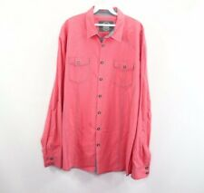 BKE Buckle Mens 2XL XXL Athletic Fit Long Sleeve Striped Button Dress Shirt Pink