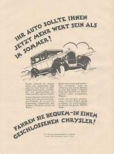 J1133 Automobili CHRYSLER Company - Pubblicità grande formato - 1927 Old advert