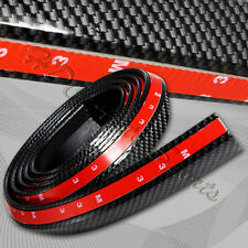 2.5mX43mm Carbon Style Bumper Lip Side Skirt Edge Decorative Protector Universal (Fits: Ford Manual)