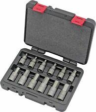 Welzh Werkzeug 12pc Allen Hex Key Bit Socket Set 1/2dr H5-H22 S2 Steel 7073-WW