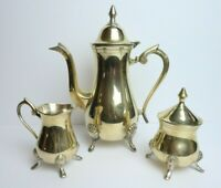 Vintage 3 Piece Coffee/Tea Pot Set with Sugar and Creamer- WA EPNS - India
