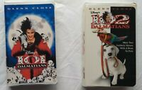 101 Dalmations + 102 Dalmations Glenn Close Disney Family Movie Lot VHS Tapes