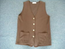 Unbranded Button Cotton Hip Length Waistcoats for Women