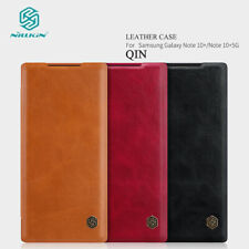 For Samsung Galaxy S20+ Note 10 9 Genuine NILLKIN Leather Wallet Flip Case Cover
