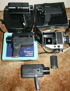 5 x Vintage Super 8mm Cine Film Cameras - Job Lot / Spares Or Repair
