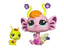 Littlest Pet Shop Fairies Glistening Garden #2614 Pansy Fairy #2615 Grasshopper