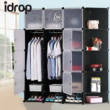 idrop 12 Cubes Wardrobe Shoe Cabinet with Two Hangers