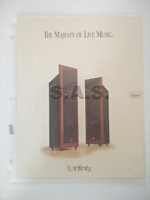 INFINITY SYSTEMS OEM PRODUCT BROCHURE - IRS SIGMA SPEAKERS - NICE!