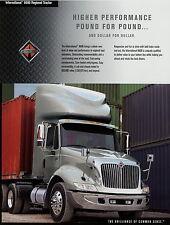 Prospekt International 8600 Regional Tractor 2002 truck brochure LKWs Auto SZM
