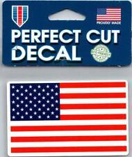 "(HCW) United States USA Flag Perfect Cut Decal 4""x4"" *FREE SHIP"