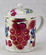 Imperial Russian Kuznetsov factory mug with lid Circa late 1800's. (BI#MK)