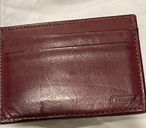 COACH Maroon Burgundy  Wallet , Card Holder ! CF