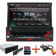 "7"" Single 1Din InDash Car DVD Radio Stereo Player GPS Navigation  MP3 Bluetooth"