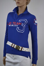 Ralph Lauren Skinny-Fit Blue Long Sleeve Polo Shirt/Pony Match -Med- NWT .$165