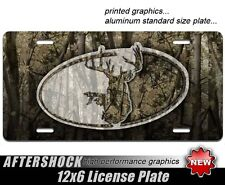 Camo Whitetail Buck License Plate Car Truck Archery Hunting 4x4 Tag
