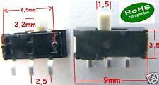 5 x  SMD-Sub-Miniatur Schiebeschalter MSK12D04/KNOB