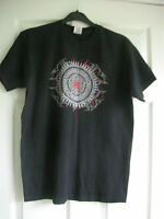 Mens Fruit of the Loom Black print T.Shirt in size M