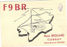 Carte radio amateur France 1955 - René Brouard - Cussay