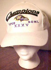 VINTAGE BALTIMORE RAVENS XXXV SUPERBOWL CHAMPIONS CAP, VERY GOOD CONDITION