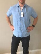 MENS RALPH LAUREN POLO CLASSICS BLUE S/S NEWPORT SHIRT - LARGE