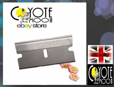 3x seul bord Rasoir fenêtre / scraper lames four / plaque de cuisson plus propre, joint, carrosserie UK