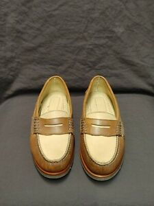 Sperry Top-Sider Mens Two-Toned Brown/Beige Leather Loafer Size 10M