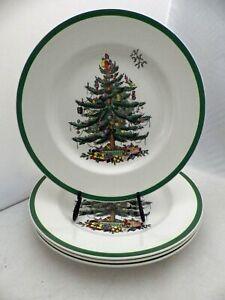 Spode - Christmas Tree pattern - set/lot of 4 Dinner Plates - #S3324 - EUC