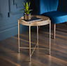 Tromso Gold Tray Metal  Coffee Table With Removable Tray Top Max Loading 10kg