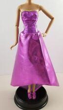 Barbie Doll Princess Outfit Pink Metallic Dress Wedge Heels Shoes Fashion