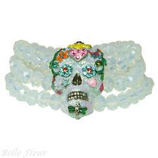 Kirks Folly Sugar Skull Dreams Stretch Bracelet ~Dia De Los Muertos~
