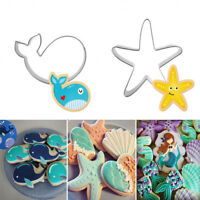 3D Stainless Steel Seabed Animals Dolphin/Starfish/Shell Cookie Cutter Tools---