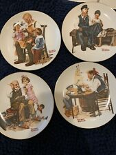 "Norman Rockwell ""Four Beloved Classics"" Set, 1982 Limited Edition Plates - C-7"