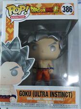 Funko POP Goku Action Figure Super Goku Ultra Instinct  + Protector
