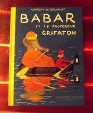 BABAR et le professeur Grifaton  JEAN DE BRUNHOFF