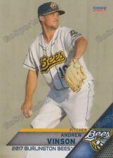 2017 Burlington Bees Andrew Vinson RC Rookie Los Angeles Angels