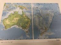 2007 Map of Oceania : Australia New Zealand Southwest Pacific & Indonesia Print