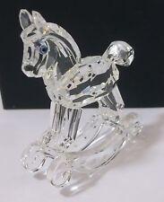 "Swarovski Crystal Figurine Large ROCKING HORSE w/ Swan Logo 2 5/8""  No Box"