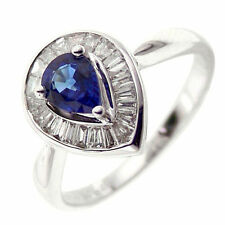 Cocktail Sapphire White Gold 14k Fine Rings