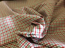 RED & GRAY PLAID #T-18 BY FABRIC FINDERS- 60 INCH WIDE--  BY THE YARD