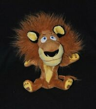 Peluche doudou lion Alex Madagascar  DREAMWORKS 2010 jaune rouille 25 cm NEUF