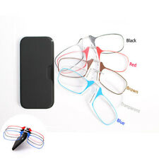 Mini Nose Clip Reading Glasses Unisex Ultra Thin With Case Optics Wallet