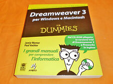 dreamweaver 3 for windows e macintosh for dummies 2000