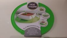 JML Hot Mate 3 in 1 Microwave Tray Plate Stacker Lid in Lime Green