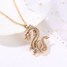 Retro Zodiac Dragon Crystal Rhinestone Necklace Fashion Chinese Style Jewelry