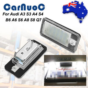 Fit For Audi A3 S3 A4 S4 B6 S6 Vehicle Led License Number Plate Lights Lamps AU