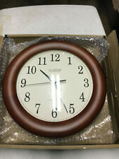"La Crosse Technology WT-3122A 12.5 Inch Wood Atomic Analog Clock, 12.5"", Cherry"