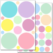 "Wandkings Wandsticker ""Pastell Punkte"" 2x A4 Set Aufkleber Sticker Deko"
