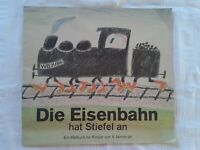 Die Eisenbahn hat Stiefel an, Malbuch für Kinder von 6 Jahren an DDR GDR 1988